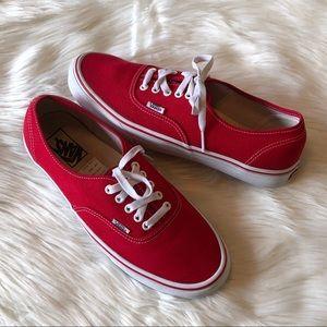 Vans Red Core Classic Low Top Skate Sneakers 10